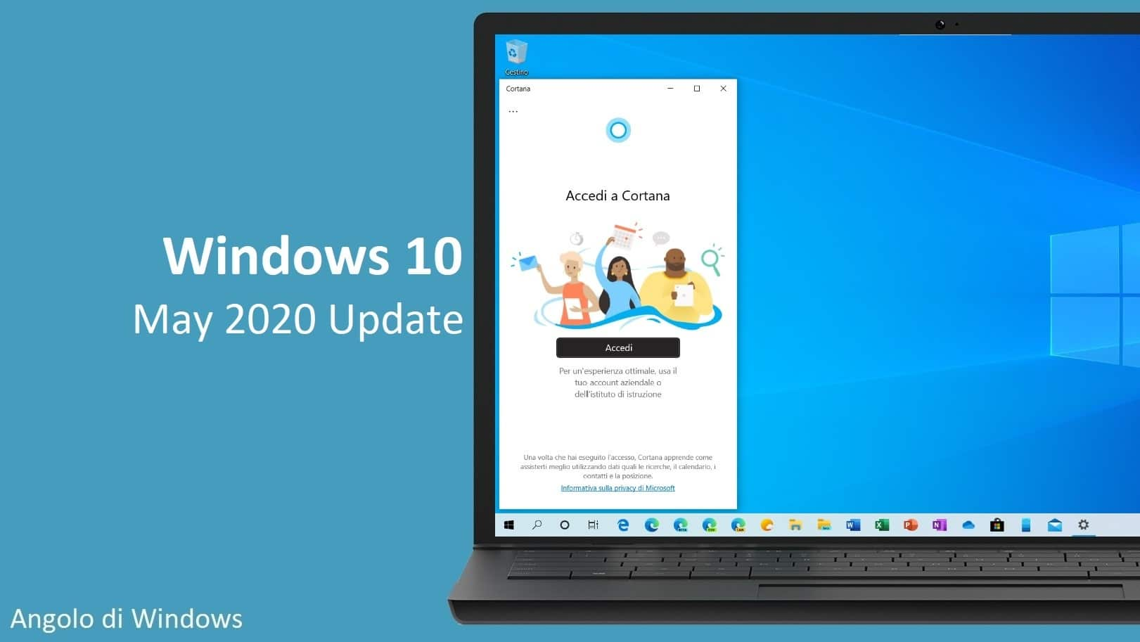 Windows 10 May 2020 Update inizia a crescere