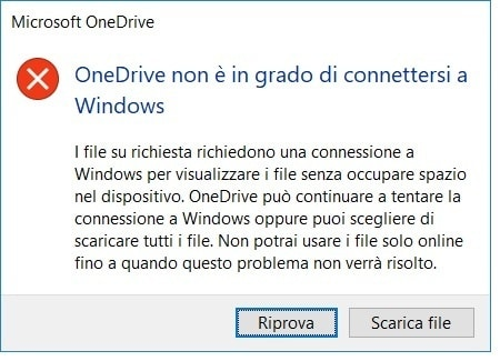 OneDrive non si connette a Windows, come risolvere?