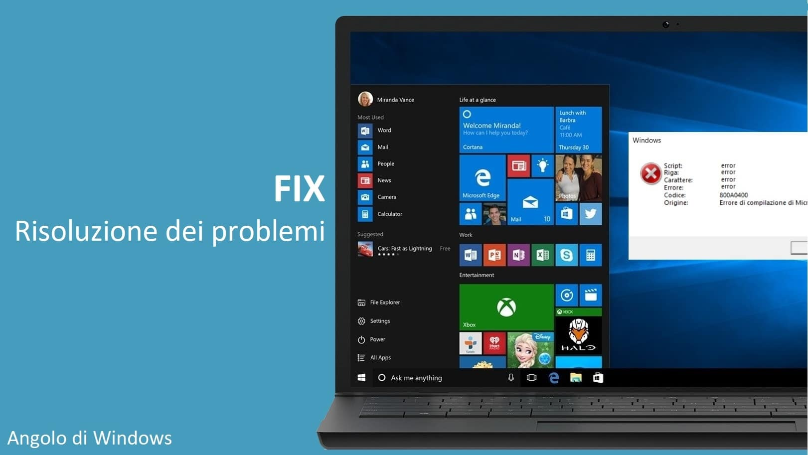 Come resettare Sicurezza di Windows