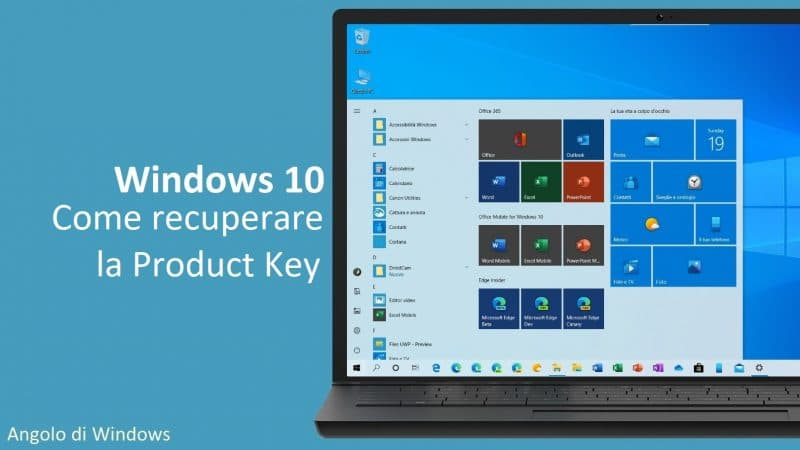 Come recuperare il codice Product Key di Windows