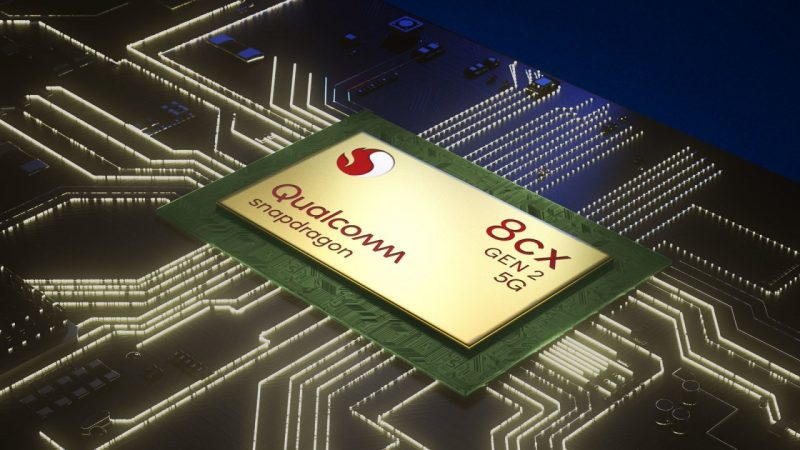 Il processore Snapdragon 8cx Gen 2 5G per pc portatili ARM