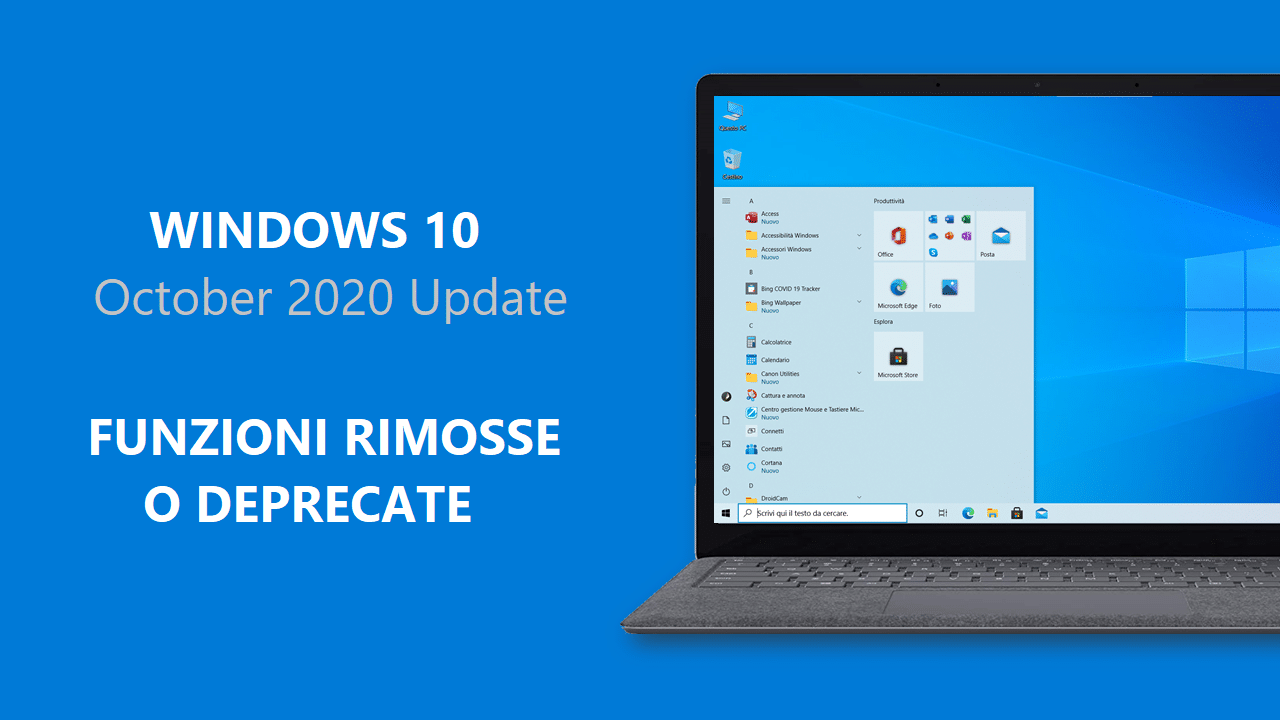 Ecco le funzioni rimosse e deprecate da Windows 10 October 2020 Update
