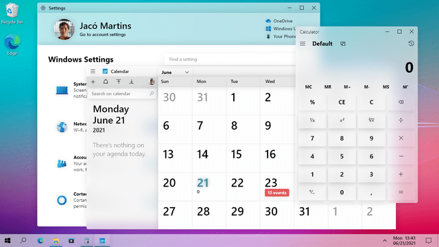 Windows 10: interessanti concept in stile Fluent Design